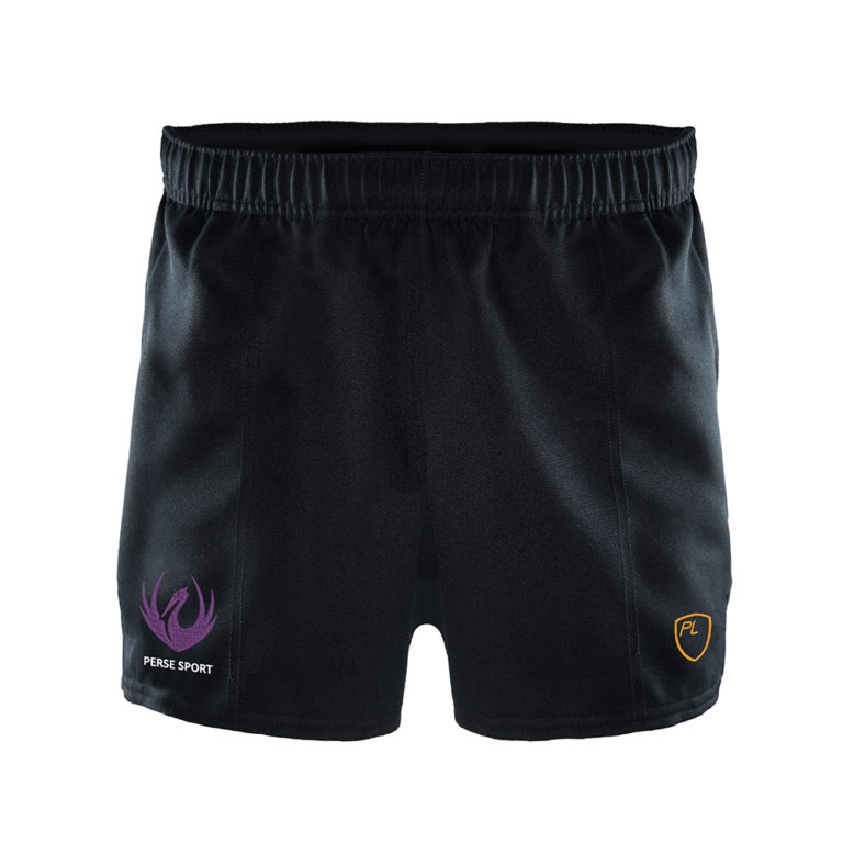 Mens Blitz Rugby Shorts Black Front