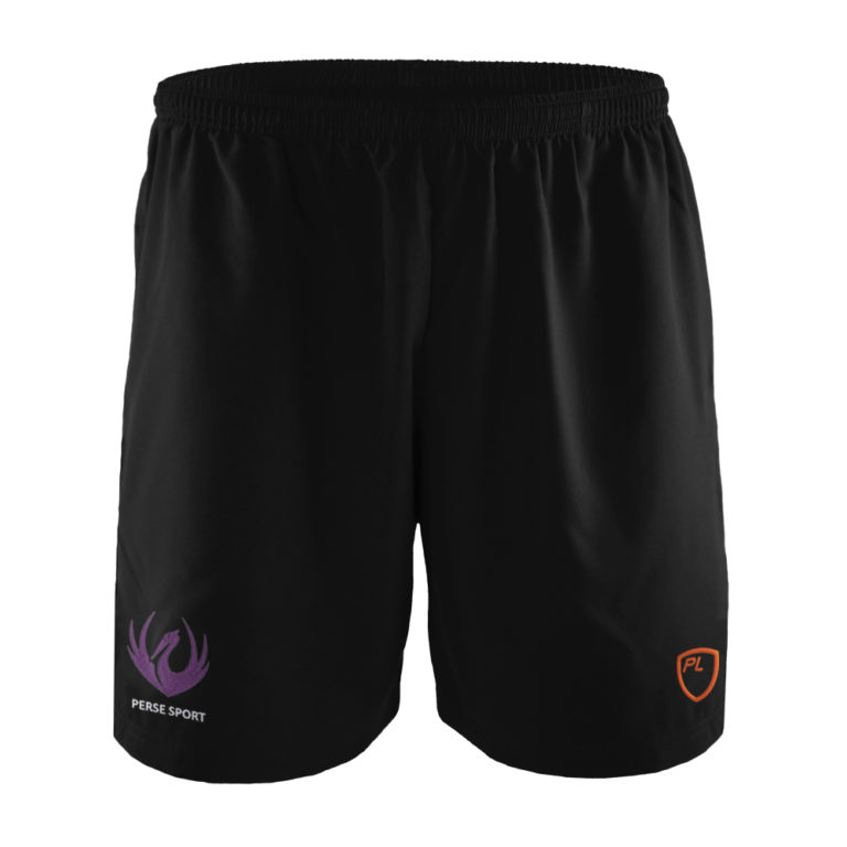 Mens & Junior Blitz Field Shorts Front – Black