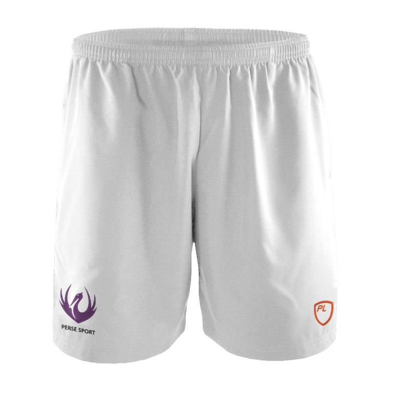 Mens & Junior Blitz Field Shorts Front – White